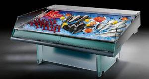 витрина «рыба на льду»